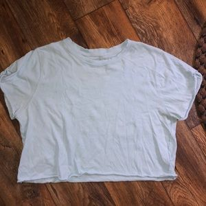 We The Free, Free People cropped blue t-shirt sz L